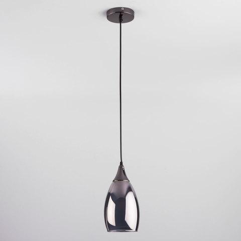 Подвесной светильник со стеклянным плафоном 50085/1 черный жемчуг