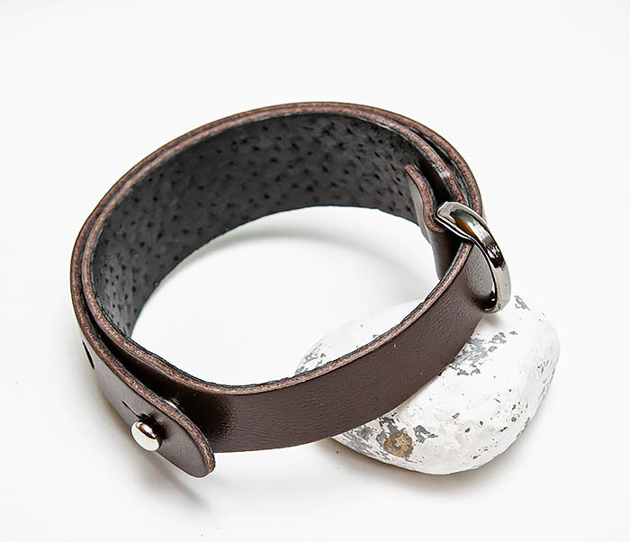 BL805-2 Мужской браслет ручной работы из коричневой кожи фото 04