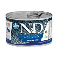 Фармина N&D Ocean 140 гр консервы для собак мелких пород сибас с кальмаром
