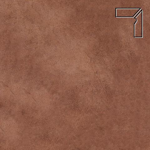Interbau - Nature Art, Cognac braun/Шоколадный, цвет 114 - Клинкерный плинтус ступени правый