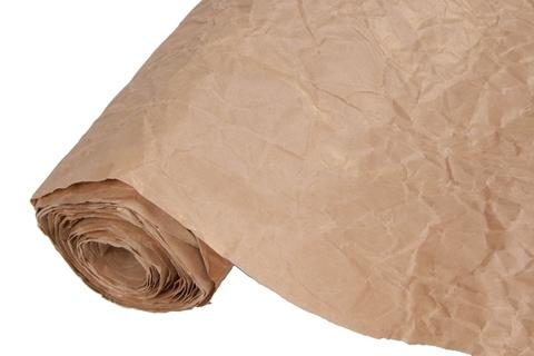 Бумага жатая эколюкс 70см х 5м  коричневая/золото 09G