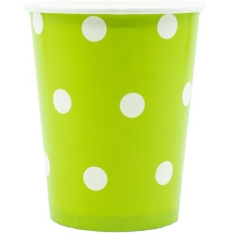 Стакан Горошек светло-зеленый 250мл 6шт