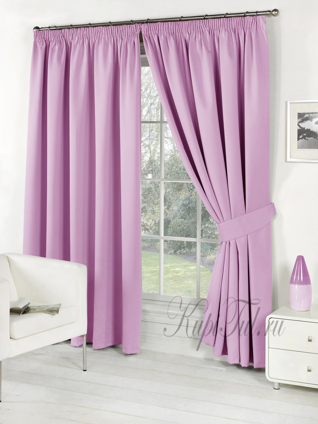 Длинные шторы. Classic Blackout (Purple). Однотонный блэкаут