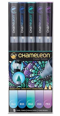 Набор маркеров Chameleon Cool Tones, холодные тона, 5 шт.
