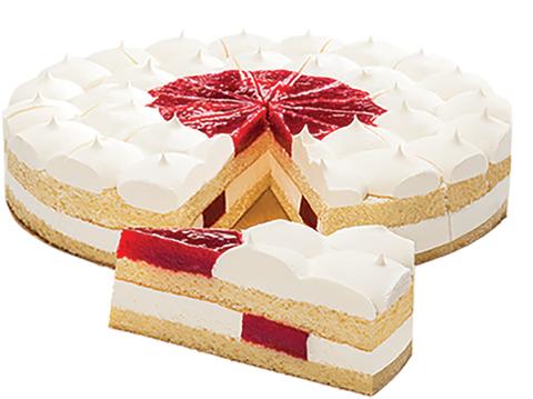 Торт Тирамису классик (клубника)1600 гр. (12 порц)