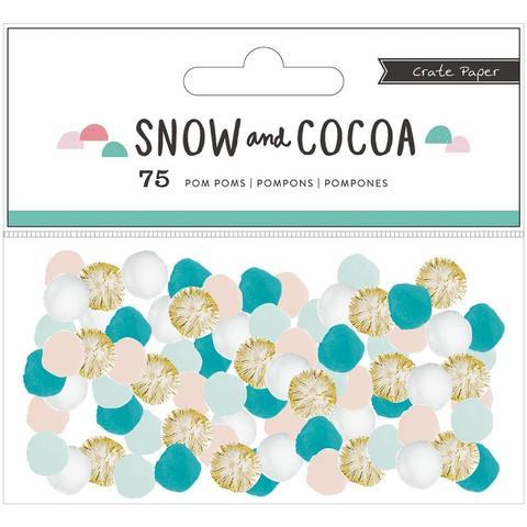 Украшения Pom Poms Snow & Cocoa от Crate Paper -75шт.
