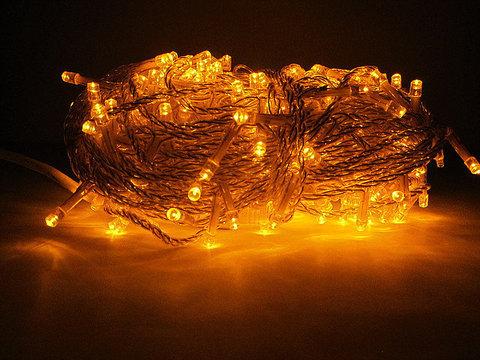 Светодиодная гирлянда нить на силиконе 30 метров 300 led светодиодов