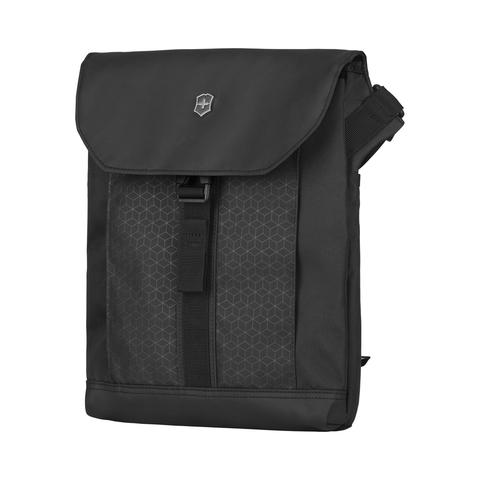 Сумка Victorinox Altmont Original Flapover Digital Bag, чёрная, 26x10x30 см, 7 л