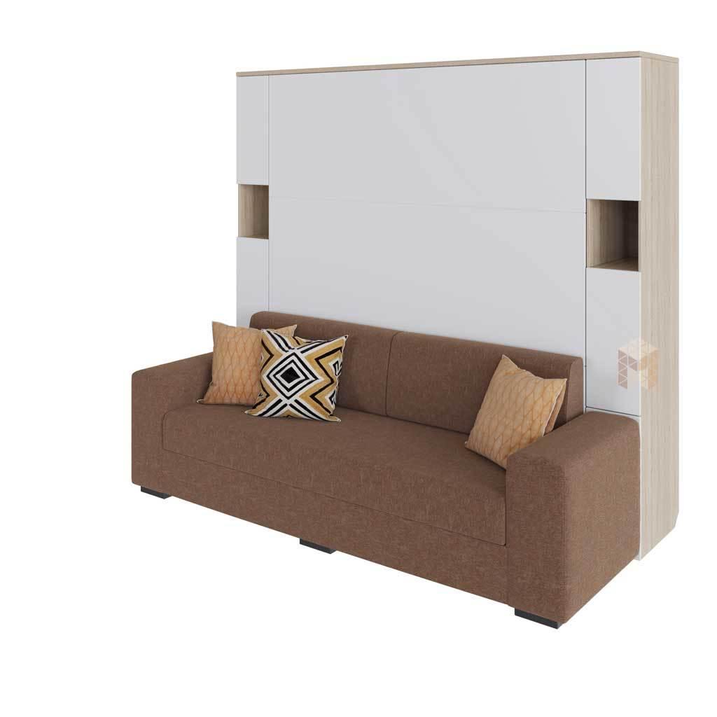 Шкаф-кровать вертикальная с диваном Глория