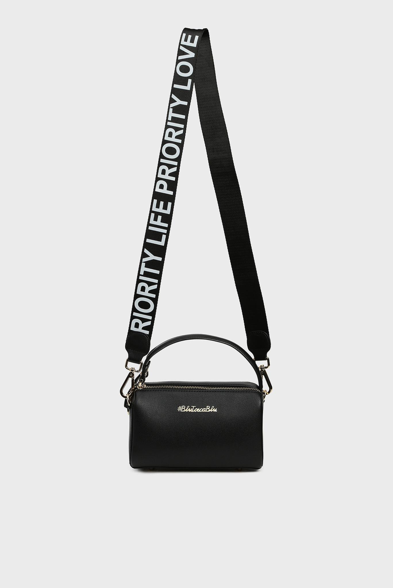 Женская черная сумка через плечо PRIORITY Tosca Blu