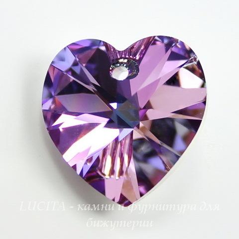 6228 Подвеска Сваровски Сердечко Crystal Vitrail Light (14,4х14 мм)