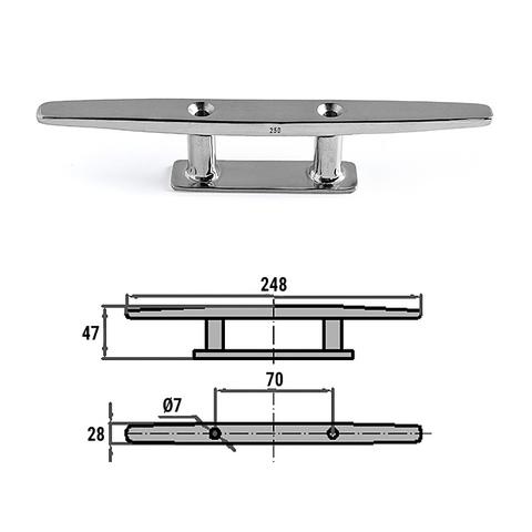 Утка швартовая 250 мм