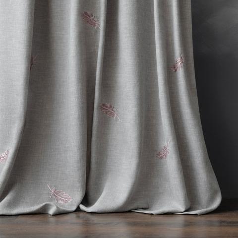 Комплект штор с вышивкой Пиаццо серый