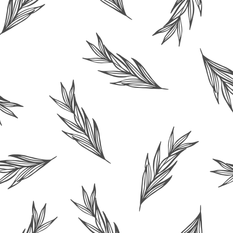 Серые веточки лаванды на белой ткани