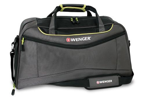 Сумка WENGER, серый/салатовый, полиэстер 900D, 57х28х30 см, 53 л