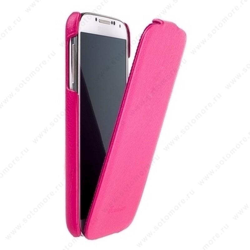 Чехол-флип Fashion для Samsung Galaxy S4 i9500/ i9505 с откидным верхом бордовый