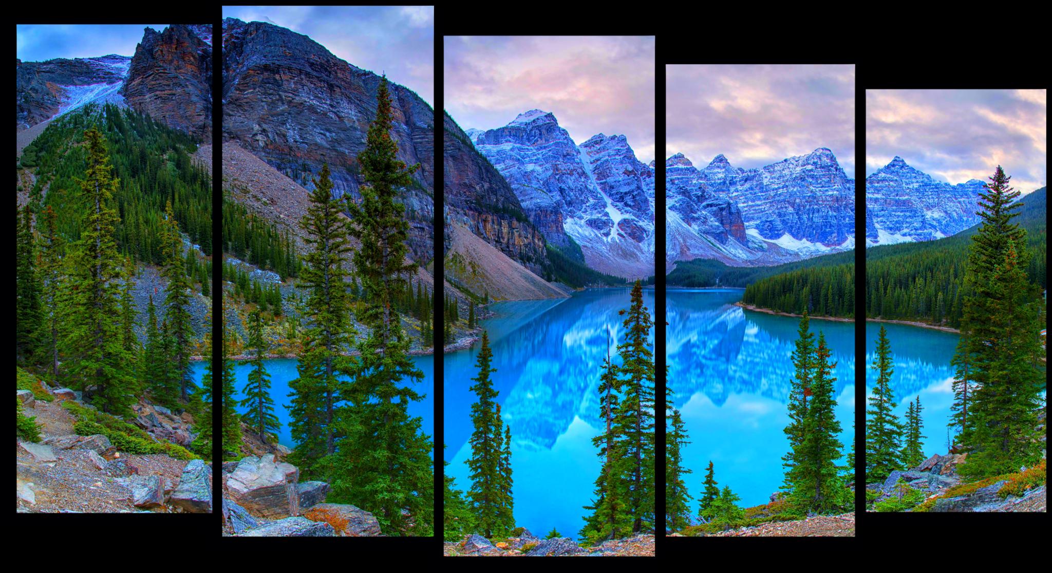 """Природа Модульная картина """"Горы Канады"""" М776.png"""