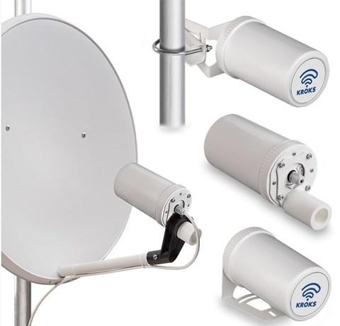 Роутер Kroks AP-221M3Q-Pot с PCI модемом Quectel EC25-E, встроенный в антенну
