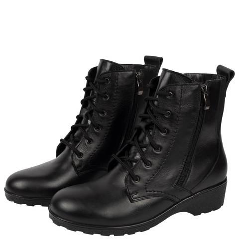 572401 Ботинки женские черные. КупиРазмер — обувь больших размеров марки Делфино
