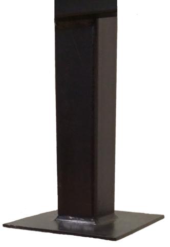Столб 3,0 метра для забора квадратный 40х40