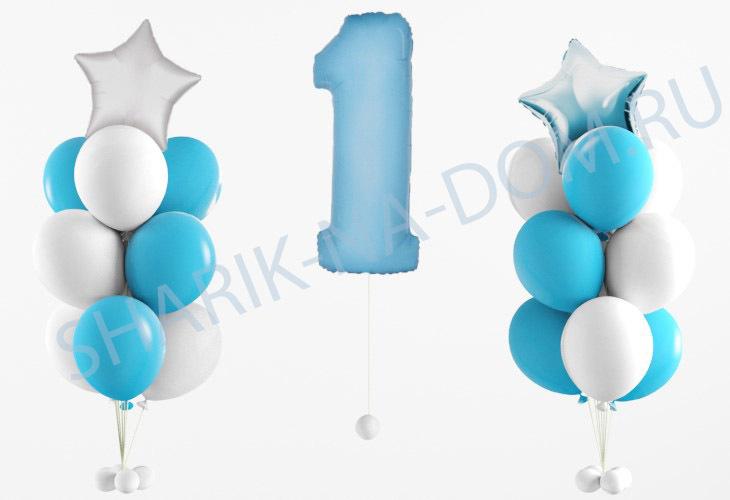 Композиции из шаров Оформление на 1 год мальчику Комопзиции_на_1_год_мальчику.jpg