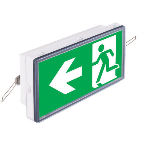 Эвакуационный указатель Vella LED с креплениями для встраиваемого монтажа