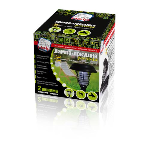 Лампа-ловушка для комаров уличная на солнечной батарее 14х14х24 см