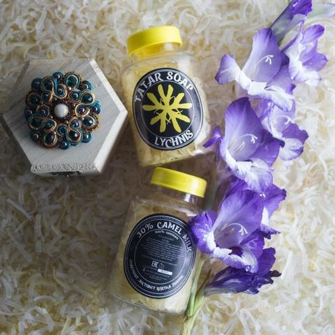 Татарское мыло ручной работы «Lychnis «Yellow flower»