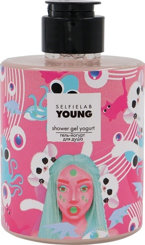 SelfieLab Young Гель-йогурт для душа с экстрактами зеленого кофе и какао 300мл