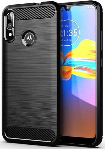 Чехол Motorola Moto E6S (E6 Plus) цвет Black (черный), серия Carbon, Caseport