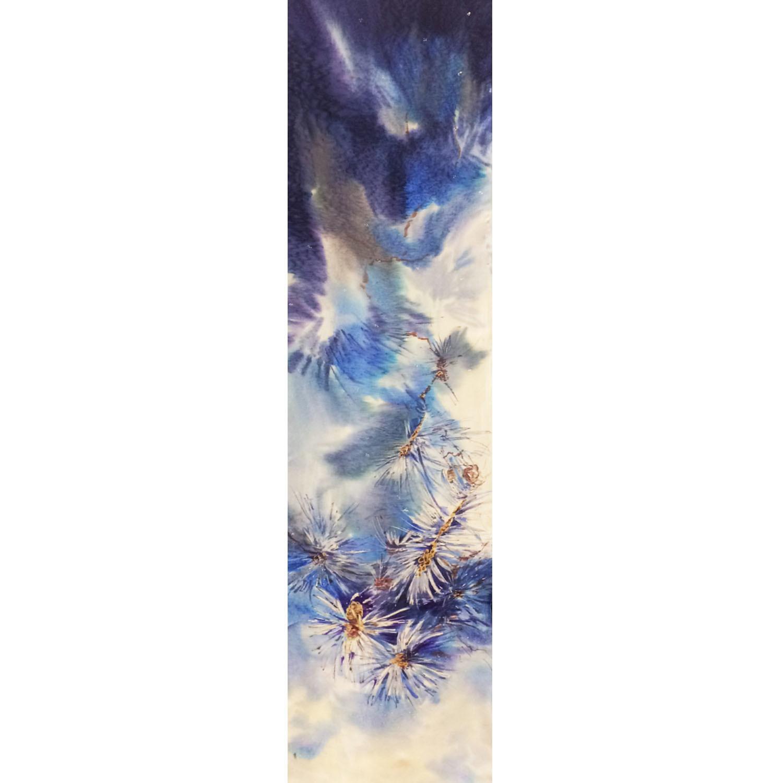 Шелковый шарф батик Зимний
