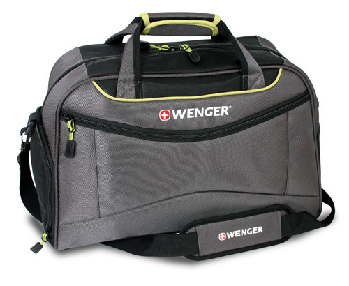Сумка WENGER, серый/салатовый, полиэстер 900D, 48х24x30 см, 35 л