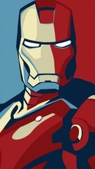 Постер Арт Марвел Железный человек