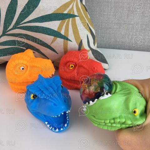 Набор игрушки Антистресс Динозавры Челюсти Тиранозавра 4 штуки
