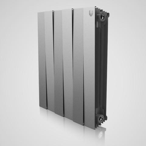 Радиатор биметаллический Royal Thermo PianoForte Silver Satin (серебристый)  - 6 секций