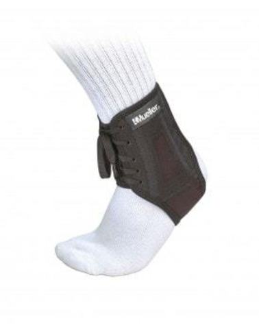 43004 XLP Ankle Brace, SM, L, Фиксатор голеностопа на шнурке, жесткий, черный