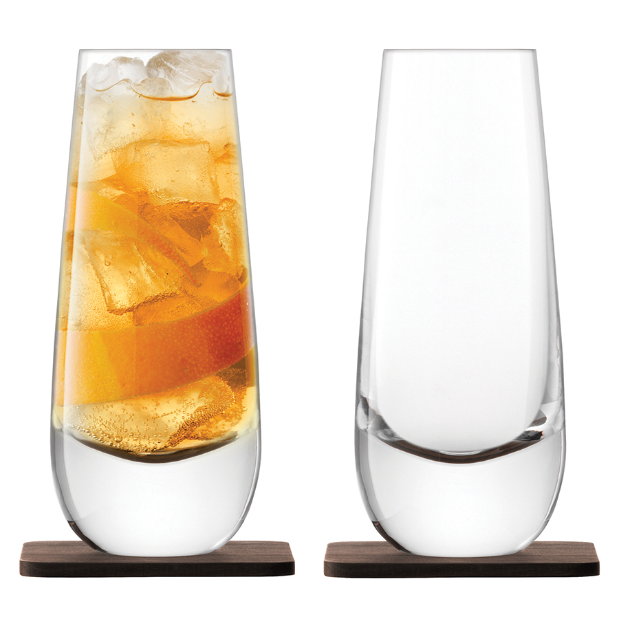 Набор из 2 бокалов на подставке из ореха Whisky Islay, 325 мл whisky premium deep blue 90 мл parfums evaflor whisky premium deep blue 90 мл