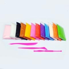 Воздушный ПЛАСТИЛИН набор 12 цветов.