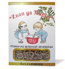 Макароны Рожки из зеленой чечевицы, безглютеновые 400 гр. (Калипсо)
