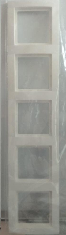 арт. 22012012 Рамка на 5 розеток, цвет-белый
