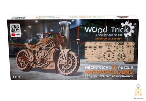Мотоцикл DMS от Wood Trick - сборная модель, деревянный конструктор, 3D пазл