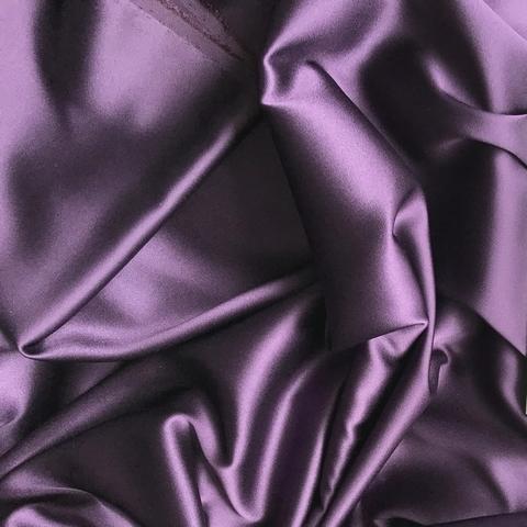 Шелк  атласный с эластаном фиолетовый 1097