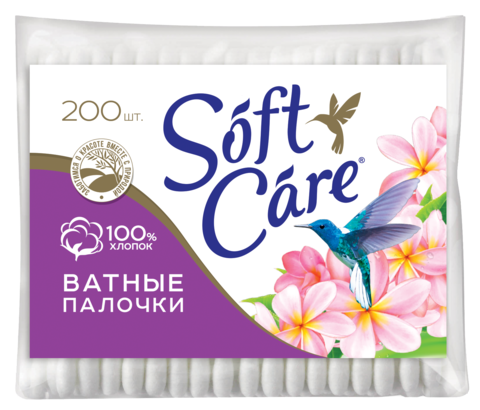 Romax Soft care Ватные палочки 200шт пакет
