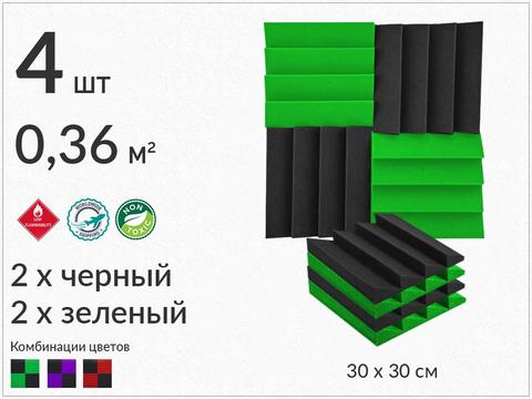AURA  300 black/green  4  pcs