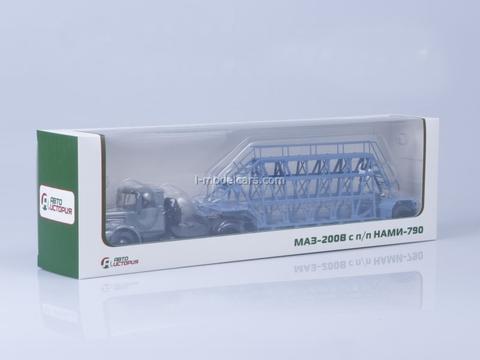MAZ-200V with semitrailer NAMI-790 gray-blue AutoHistory 1:43