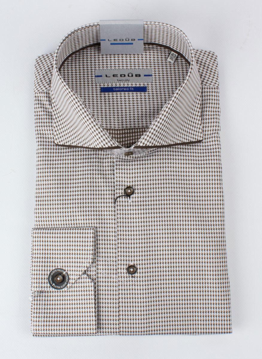 Рубашка Ledub tailored fit 0136361-690-680-000-TF-Brown