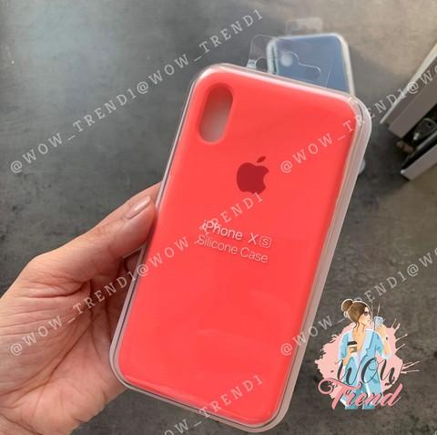 Чехол iPhone 7/8 Silicone Case Full /coral/ коралл