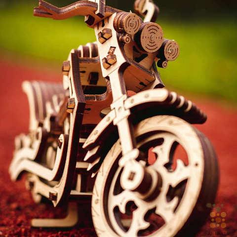 Деревянные конструкторы Eco Wood Art. Модель - Мотоцикл Крузер (Cruiser)