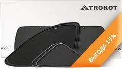 Каркасные автошторки на магнитах для Lada Granta (2011+) Лифтбэк. Комплект на заднюю полусферу из 5 экранов