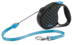 Поводок-рулетка Flexi Color  М (до 20 кг) трос 5 м голубая